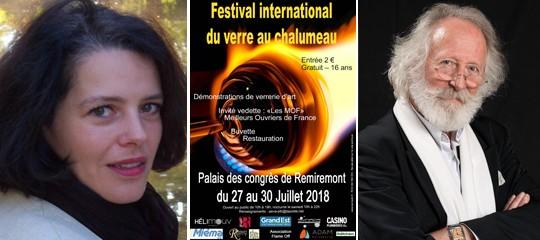Gilles Laporte et Frédérique Volot au Festival international du verre au chalumeau (88)
