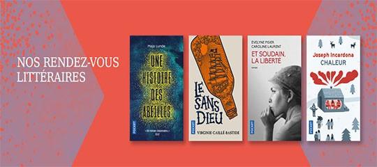 Les rendez-vous littéraires Pocket du mois d'août