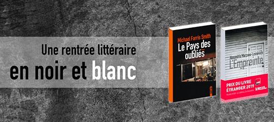 La rentrée littéraire de janvier chez Sonatine : en noir et blanc