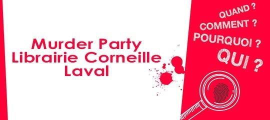 Murder Party à la librairie Corneille de Laval