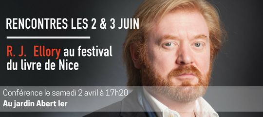 Rencontrez R. J. Ellory au festival du livre de Nice