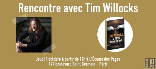 Tim Willocks pose ses valises à Paris !