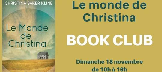 """Book Club : Discussion autour du """"Monde de Christina"""" le 18 novembre"""
