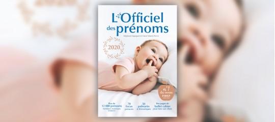 """""""L'Officiel des prénoms 2020"""" : une année caméléon !"""