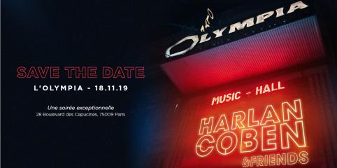 Harlan Coben vous invite à passer une soirée exceptionnelle à l'Olympia