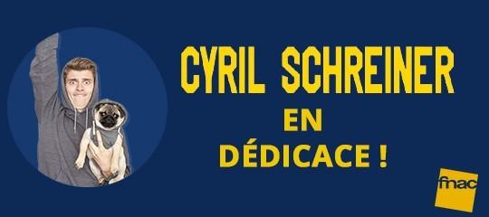 Cyril Schreiner dédicace son agenda à la Fnac de Dijon !