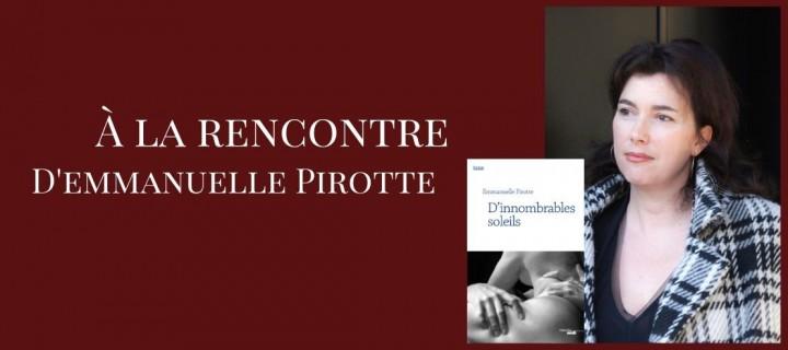 Emmanuelle Pirotte : l'interview
