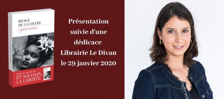 Présentation de « Rivage de la colère » à la Librairie Le Divan