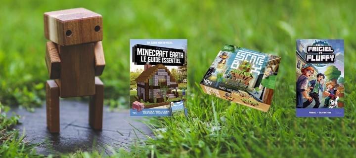 Minecraft Earth® : trois livres pour accompagner votre partie
