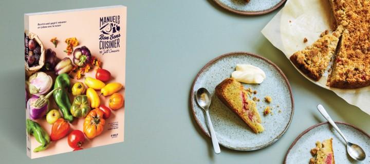 Le gâteau éco-responsable fraise-rhubarbe