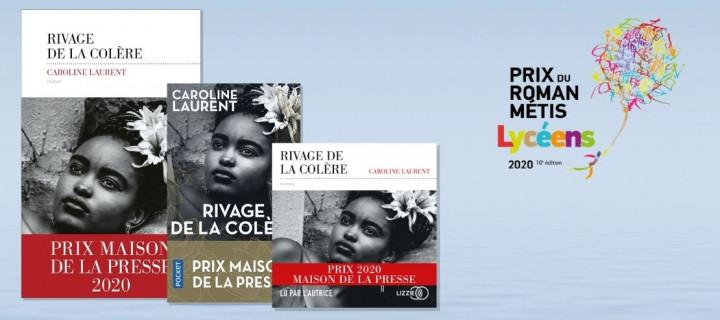 """Après le Prix du roman Métis des Lecteurs, """"Rivage de la colère"""" obtient le Prix du roman Métis des lycéensL"""