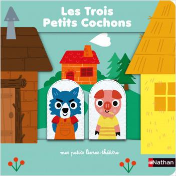 Les trois petits cochons - livre théâtre avec marionnettes à doigts pour donner vie à l'histoire et aux personnages - Dès 18 mois