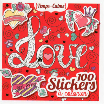 100 stickers à colorier - Love