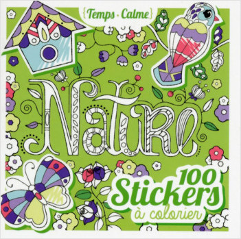 100 stickers à colorier - Nature