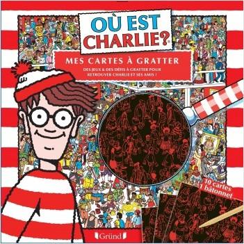 Où est Charlie ? Cartes à gratter – Pochette 10 cartes à gratter  – À partir de 7 ans