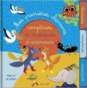 Mon premier livre de chansons, comptines et musiques d'animaux (avec CD)