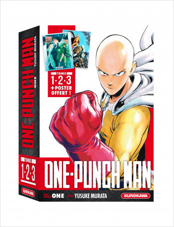 COFFRET - ONE-PUNCH MAN - tomes 1-2-3 + poster