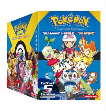 COFFRET - Pokémon Diamant Perle / Platine - tomes 1-2-3-4-5 + Guide Pokémon