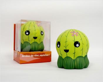 Coffret Arrêtez de râler, squishez ! : 1 squishy cactus + 1 livre