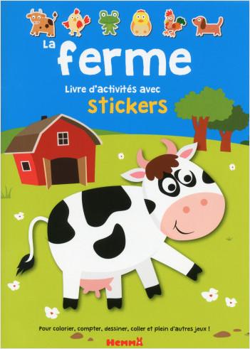 La ferme - Livre d'activités avec stickers