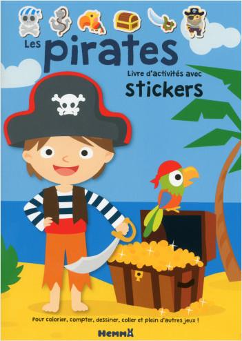 Les pirates - Livre d'activités avec stickers