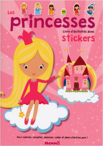 Les princesses - Livre d'activités avec stickers
