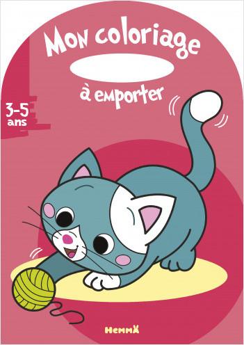 Mon coloriage à emporter (3-5 ans) (chat)