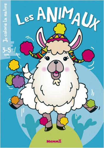 Je colorie la nature (3-5 ans) - Les animaux (Lama)