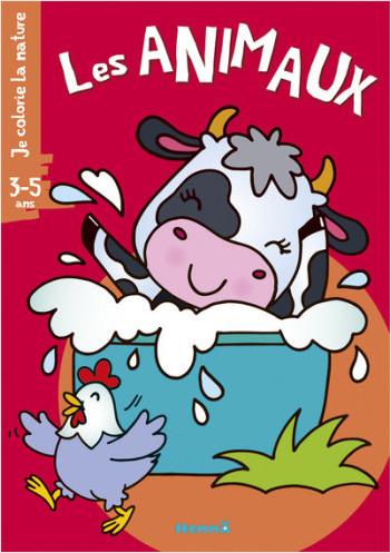 Je colorie la nature (3-5 ans) - Les animaux (vache)