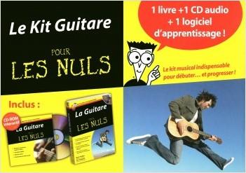 Le Kit Guitare pour les Nuls 1 livre + 1 CD audio + 1 logiciel
