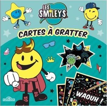Les Smileys - Cartes à gratter - Pochette de 10 cartes à gratter - Dès 6 ans