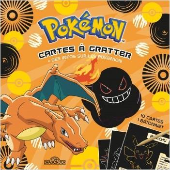 Pokémon - Cartes à gratter + des infos sur les Pokémon (Dracaufeu) - Pochette de 10 cartes à gratter - Dès 6 ans