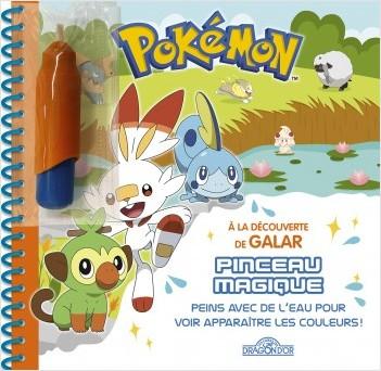 Pokémon - Pinceau magique - À la découverte de Galar - Livre avec pinceau magique – Dès 3 ans