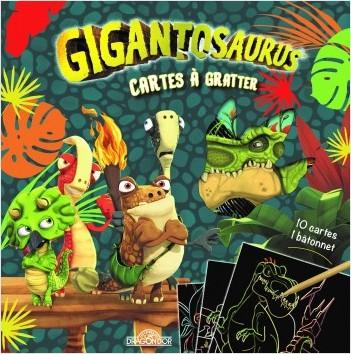Gigantosaurus - Cartes à gratter - Pochette de 10 cartes à gratter - Dès 3 ans