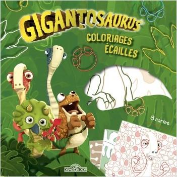 Gigantosaurus - Coloriages écailles