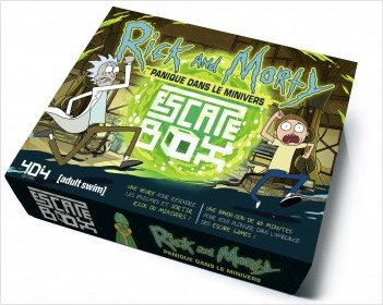 Escape Box Rick et Morty Panique dans le Minivers - Escape game officiel adulte de 3 à 6 joueurs - Dès 14 ans et adulte