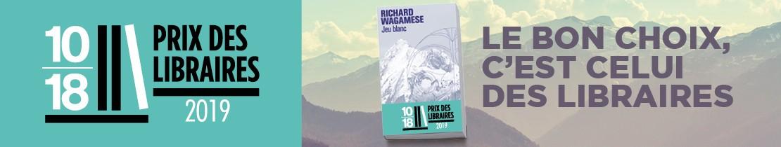 Bannière - 10/18 - Prix des libraires jeu blanc