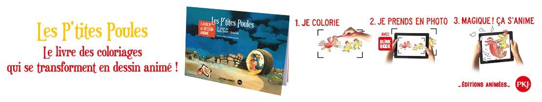 Bannière - PKJ - Les P'tites Poules - Cahier de dessin animé : Le jour où mon frère viendra