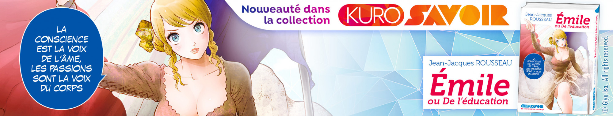 Bannière - KUROKAWA - Emile ou De l'éducation Jean-Jacques ROUSSEAU